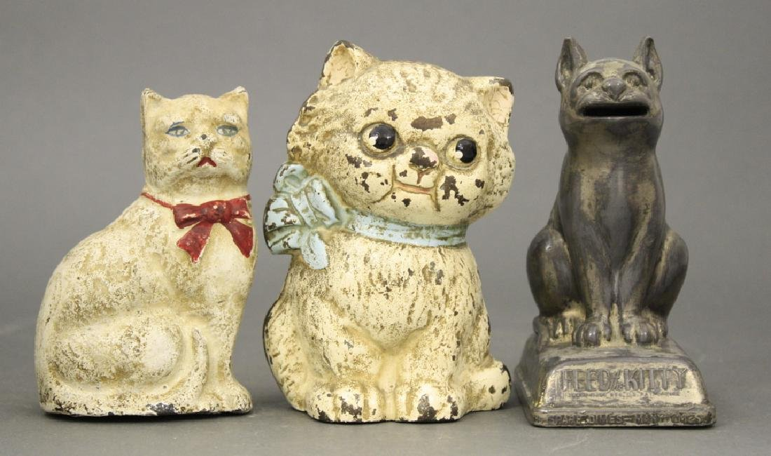 Lot: Three Cat Banks