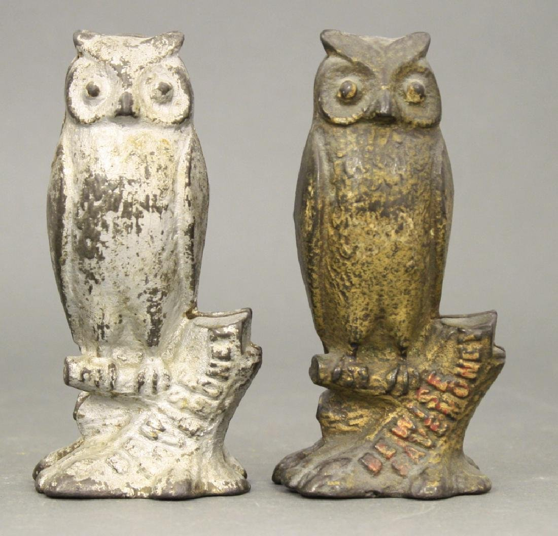 "Lot: Two ""Be Wise"" Owl Banks"