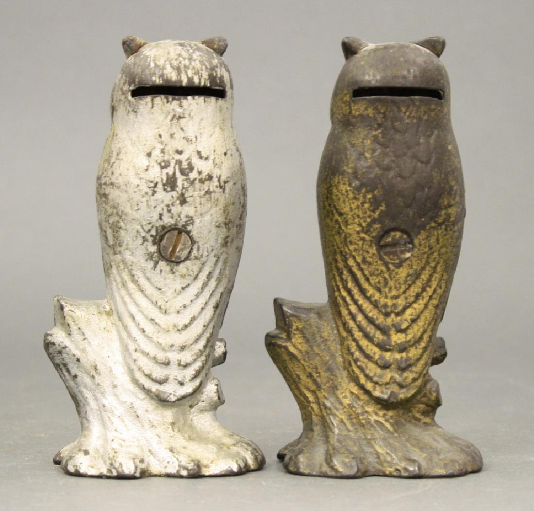 "Lot: Two ""Be Wise"" Owl Banks - 2"