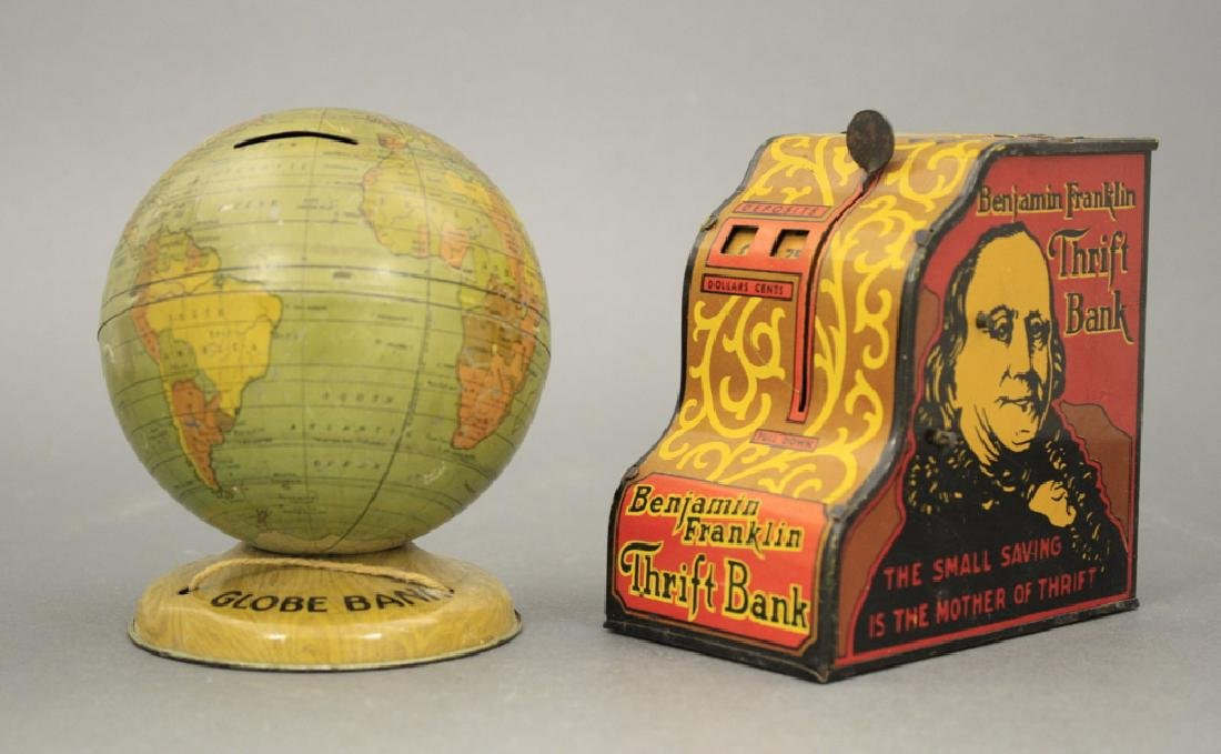 Lot: Globe Bank and Franklin Safe