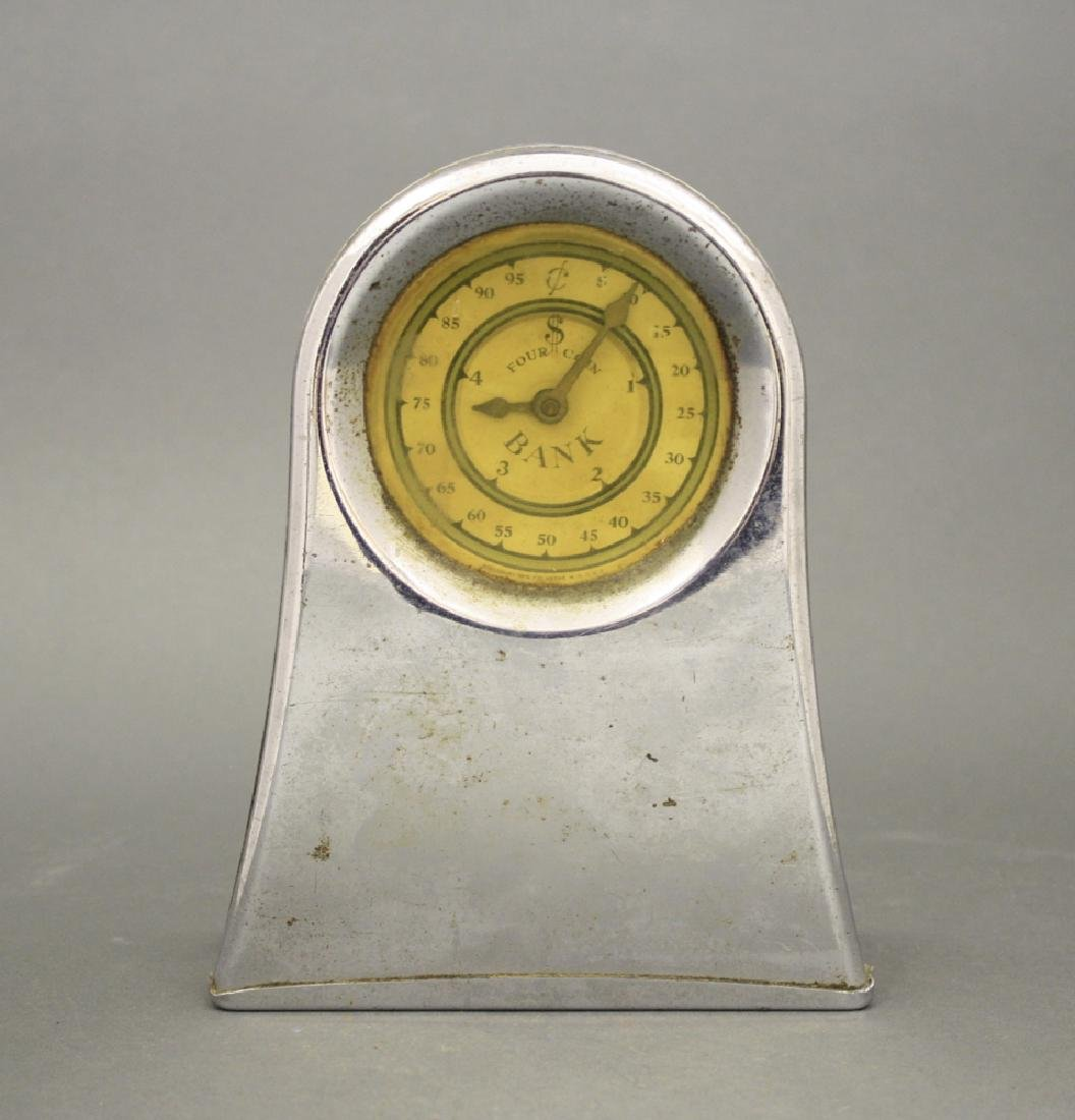 Four Coin Clock Bank