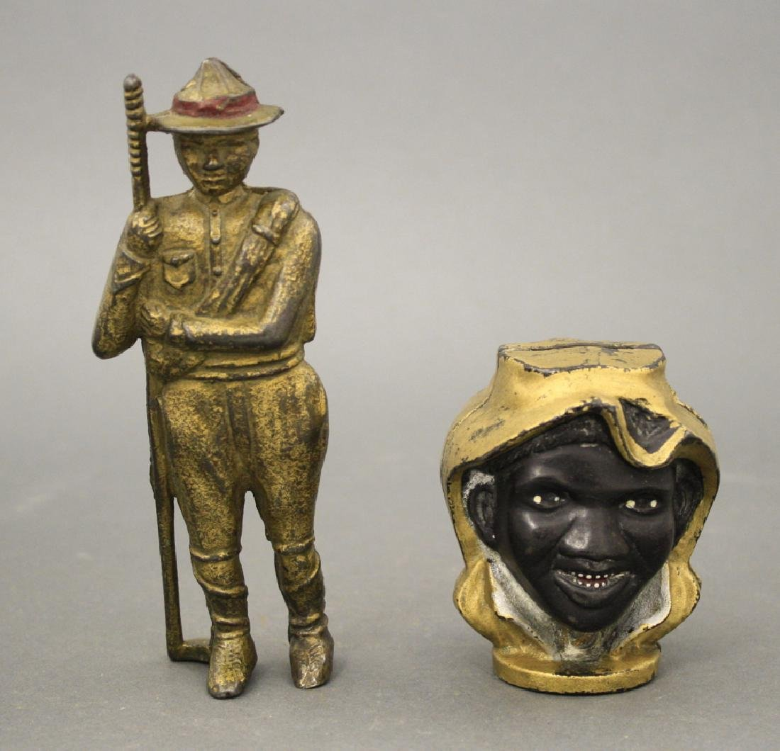 Lot: Boy Scout and Two Faced Black Boy Banks
