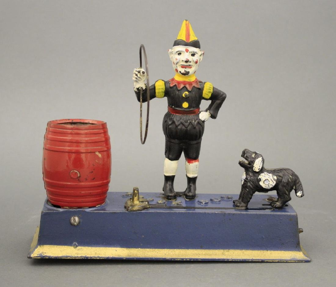 Trick Dog Mechanical Bank, Solid Base