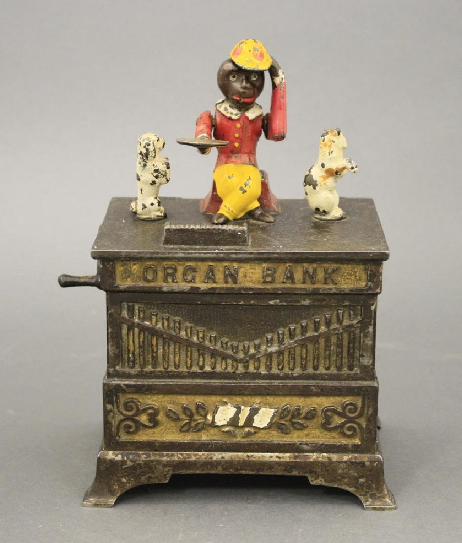 Organ Mechanical Bank, Cat and Dog