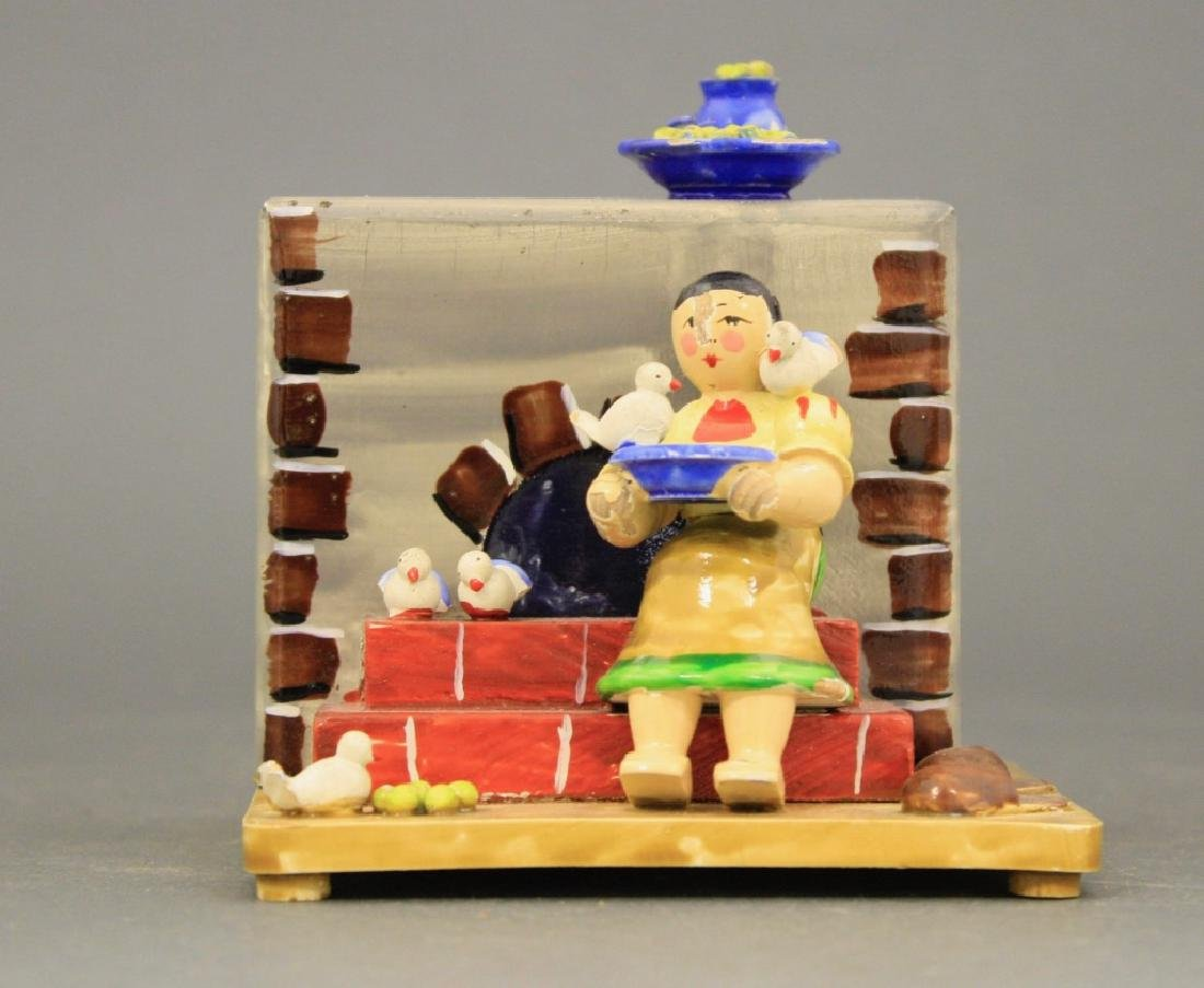 Woman by Brick Oven