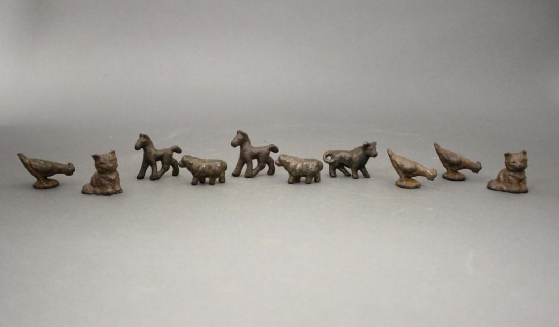 10 Cast Iron Animal Figures