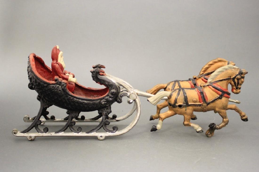 Santa Sleigh with Horses - 2