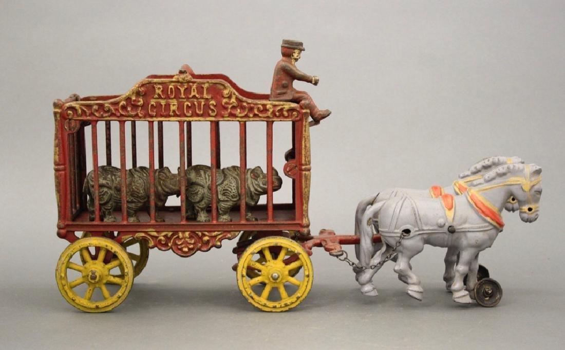 Royal Circus Rhino Cage Wagon