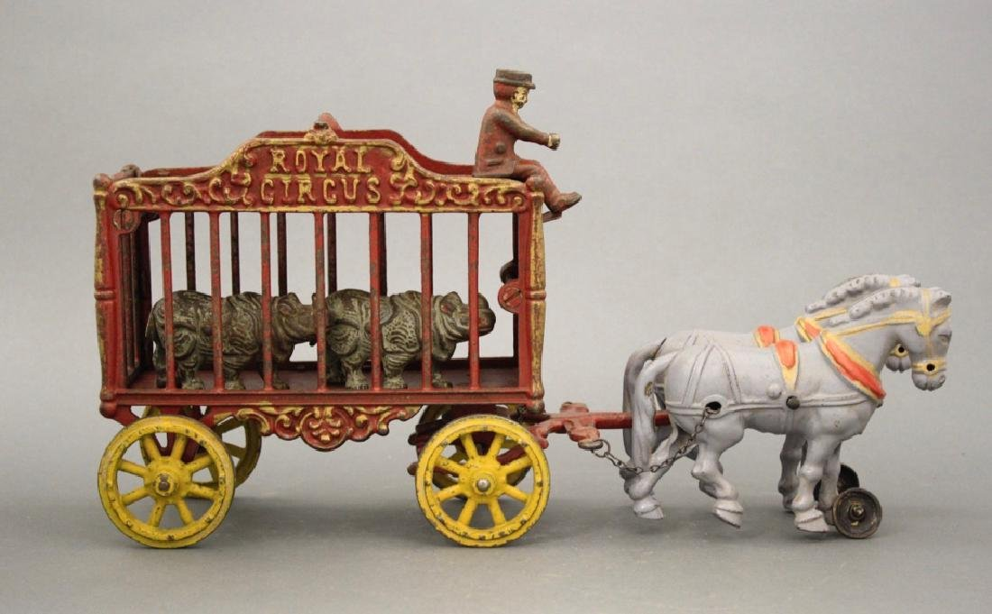 Royal Circus Rhino Cage Wagon
