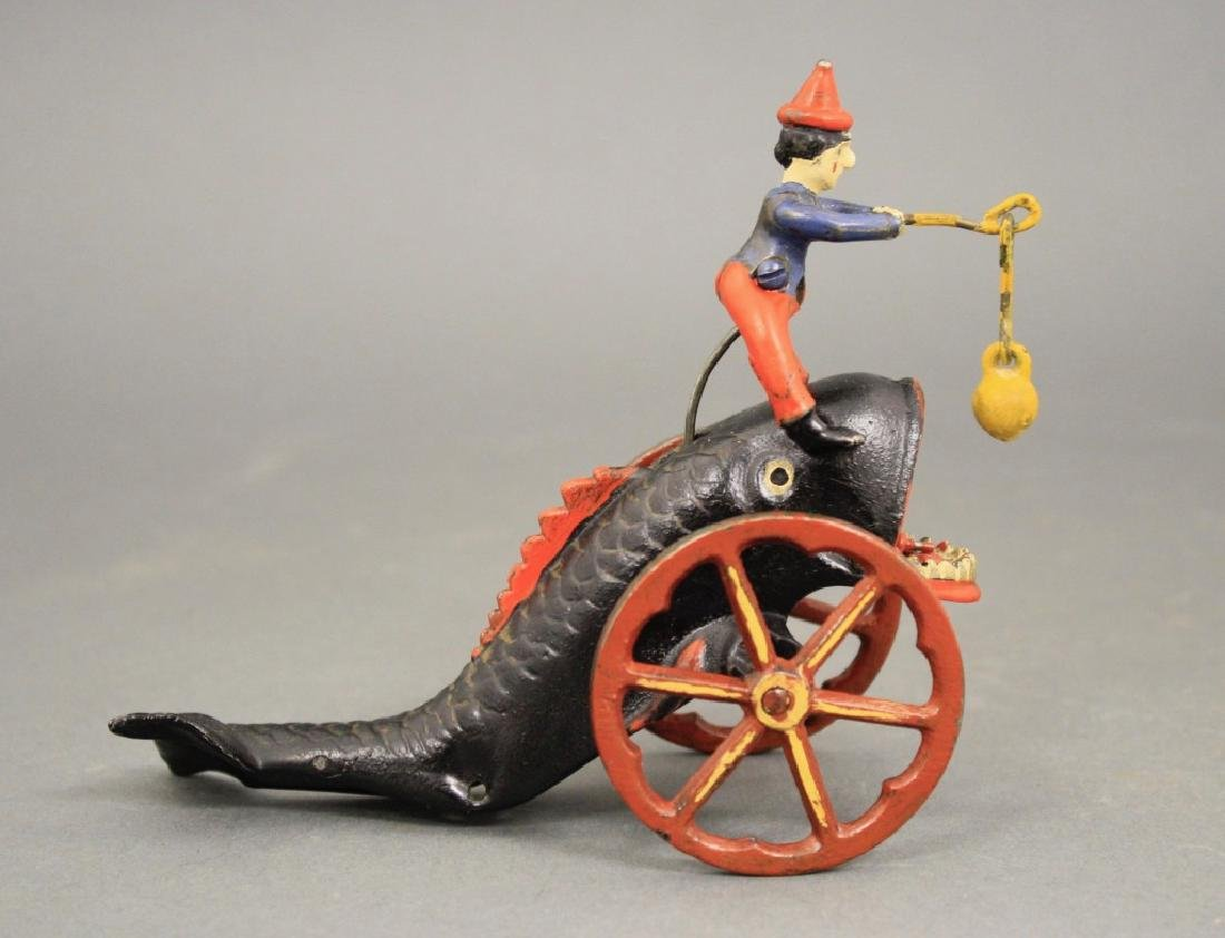 Clown Riding a Whale's Back Bell Toy - 2