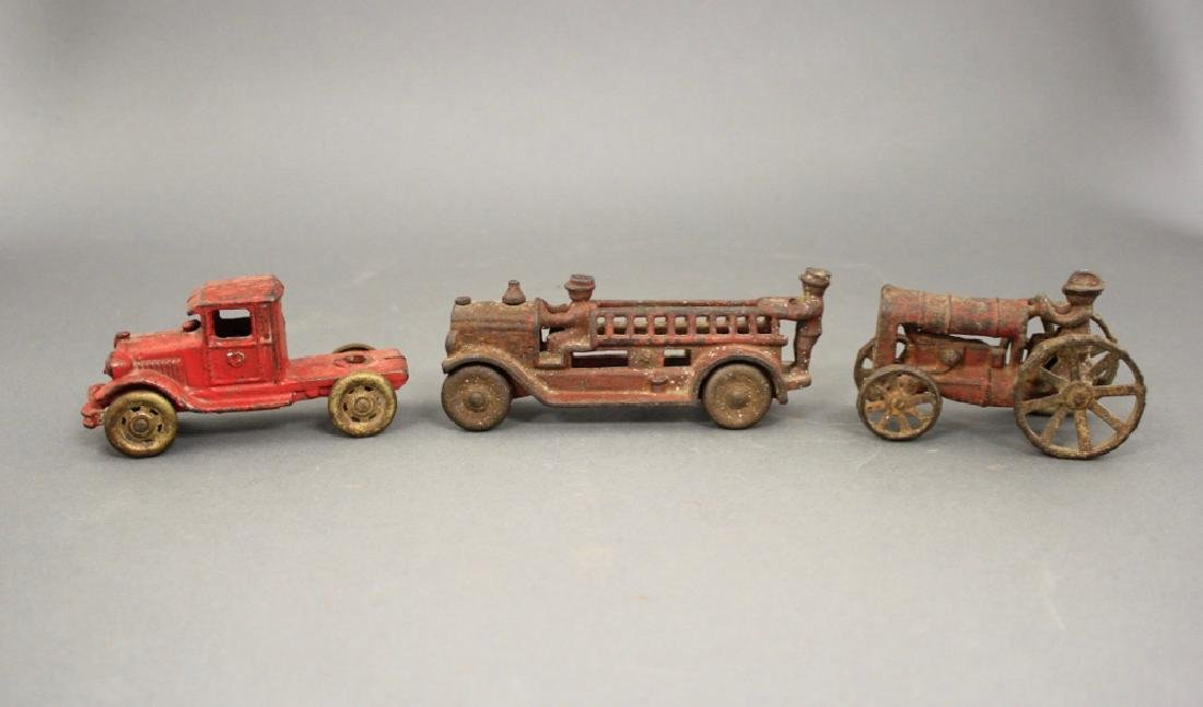 Lot: Three Cast Iron Toys