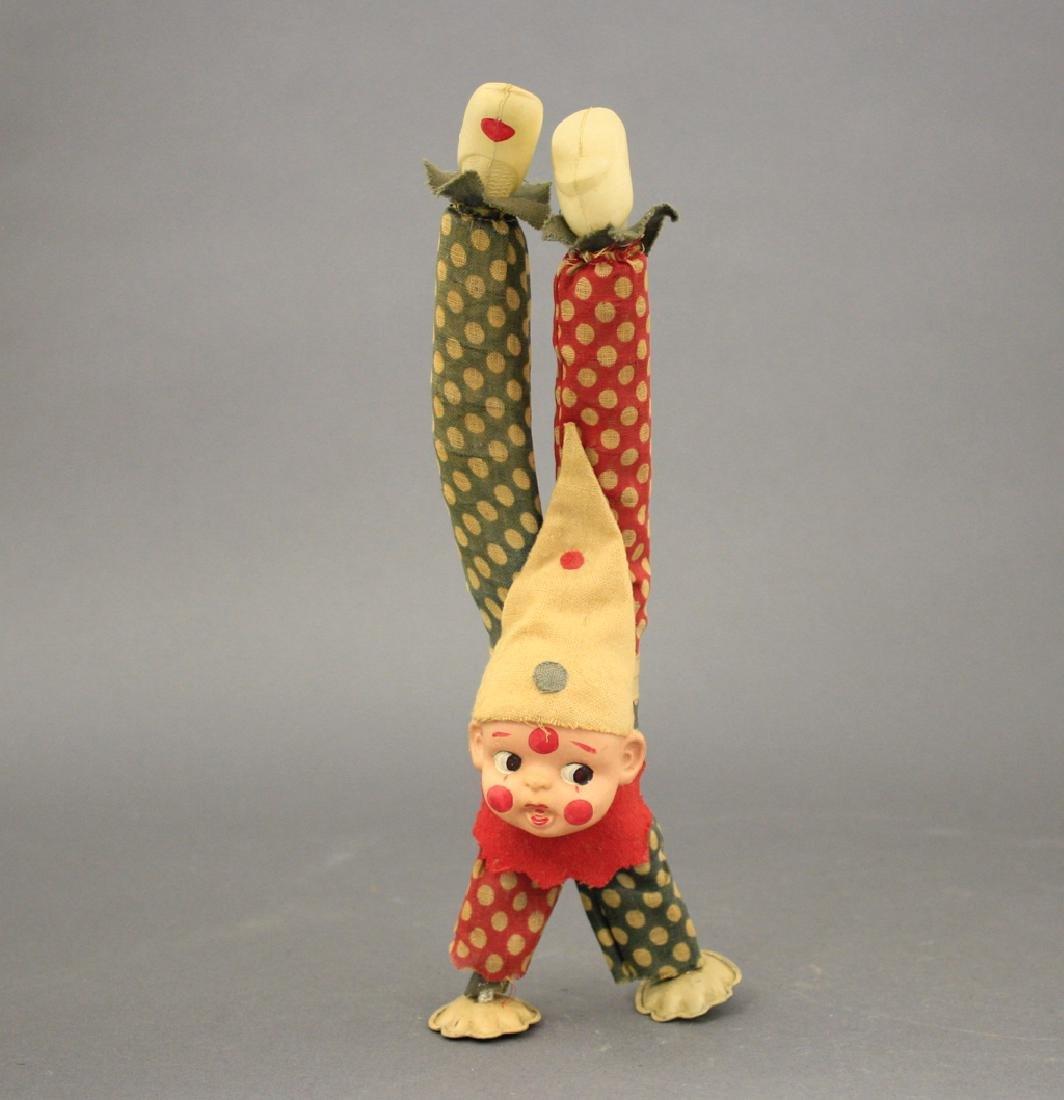 Clown Doing a Handstand