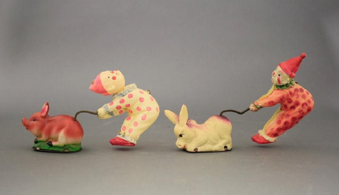Lot: Clown w/ Donkey & Clown w/ Pig