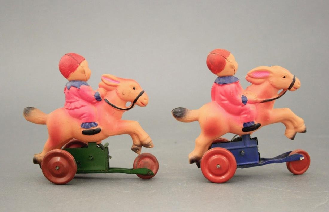 Lot: Two Young Clowns on Donkey - 2