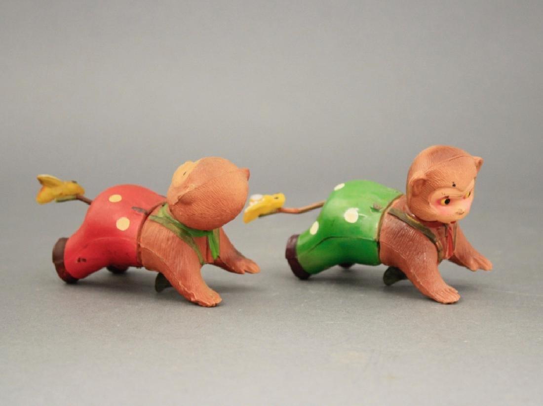 Lot: Two Crawling Monkeys