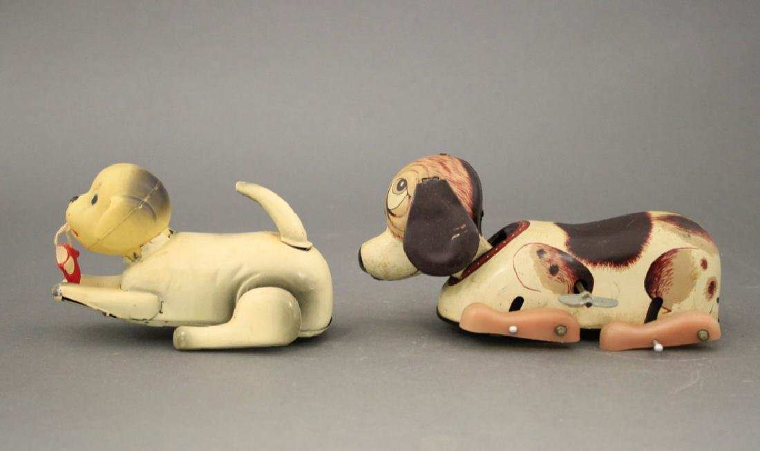 Lot: Two Crawling or Flipping Dogs - 2