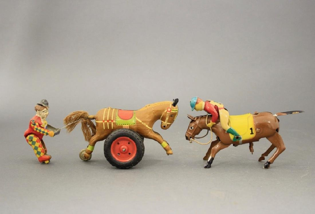 Lot: Clown w/ Horse / Jockey