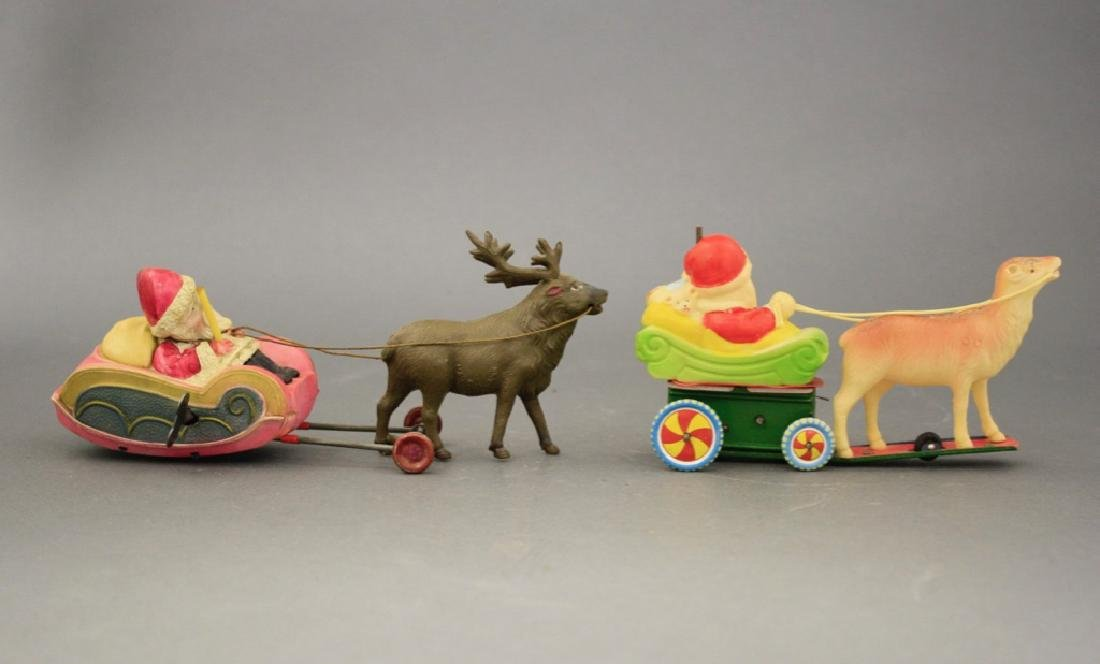 Lot: Two Santas on Sleigh - 2