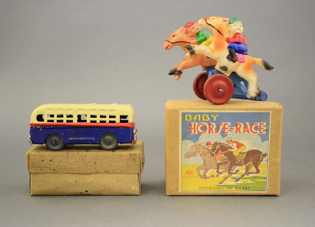 Lot: Windup Bus and Baby Horse Race