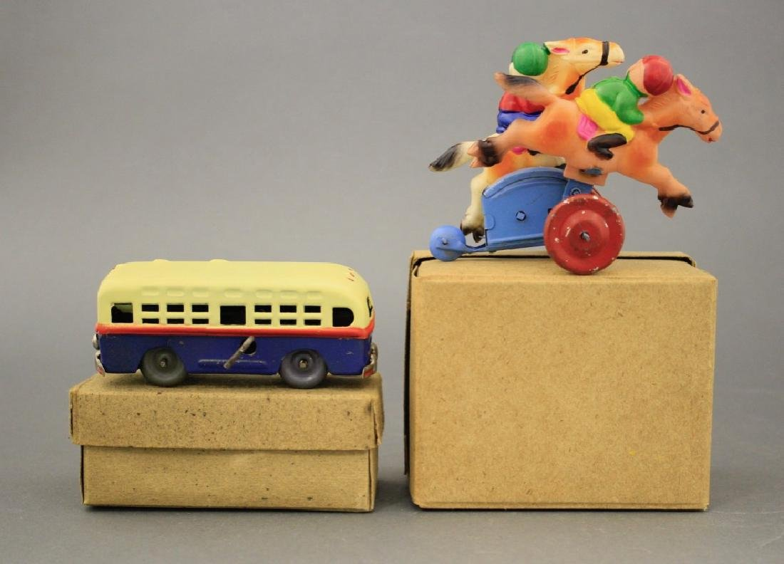 Lot: Windup Bus and Baby Horse Race - 2