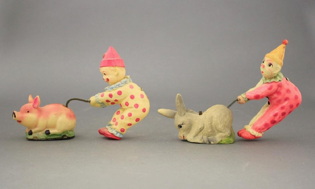 Lot: Clowns with Donkey and Pig