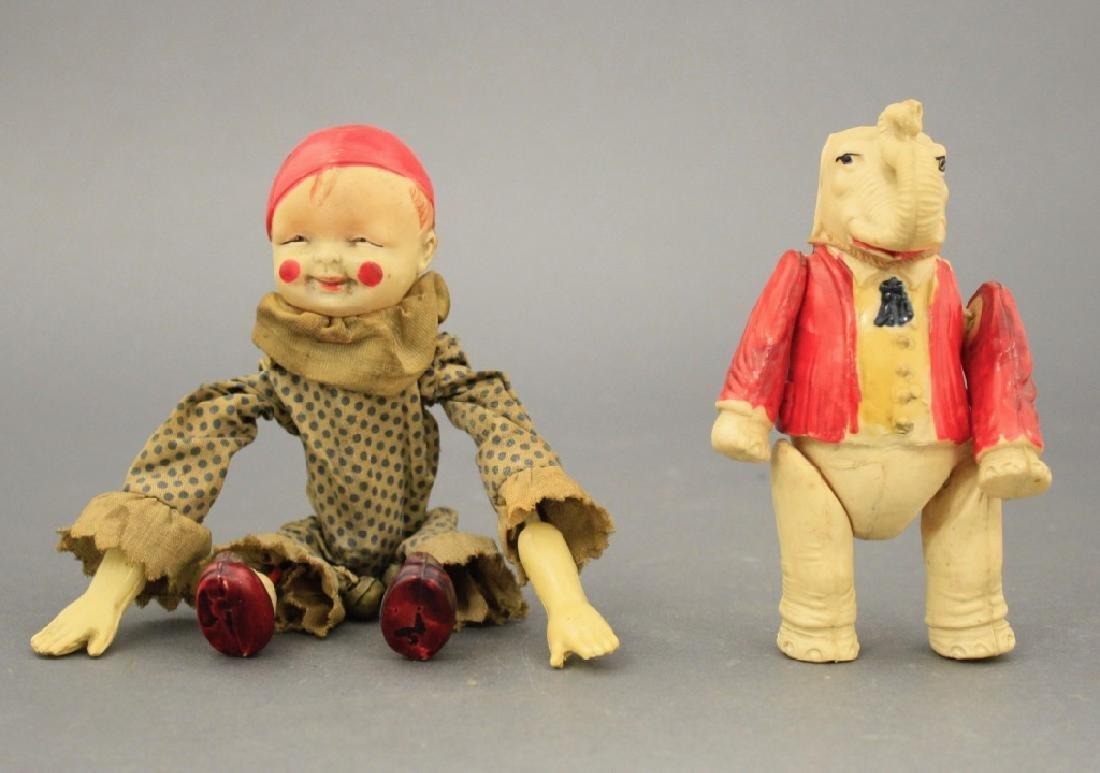 Lot: Tumbling Clown & Hanging Elephant