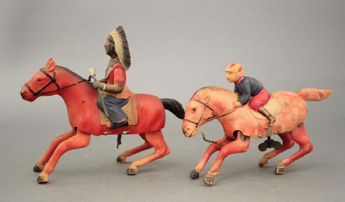 Lot: Jockey & Indian on Horseback