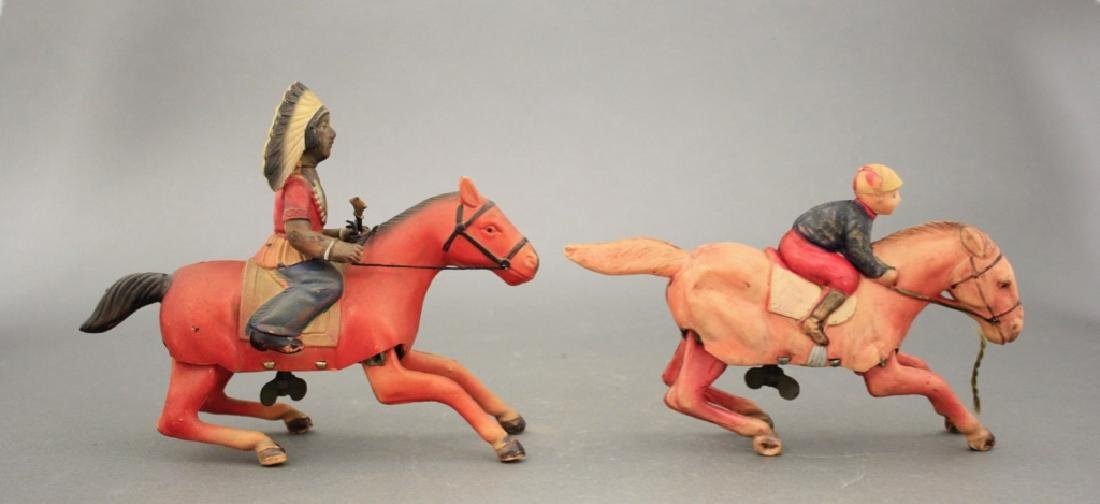 Lot: Jockey & Indian on Horseback - 2