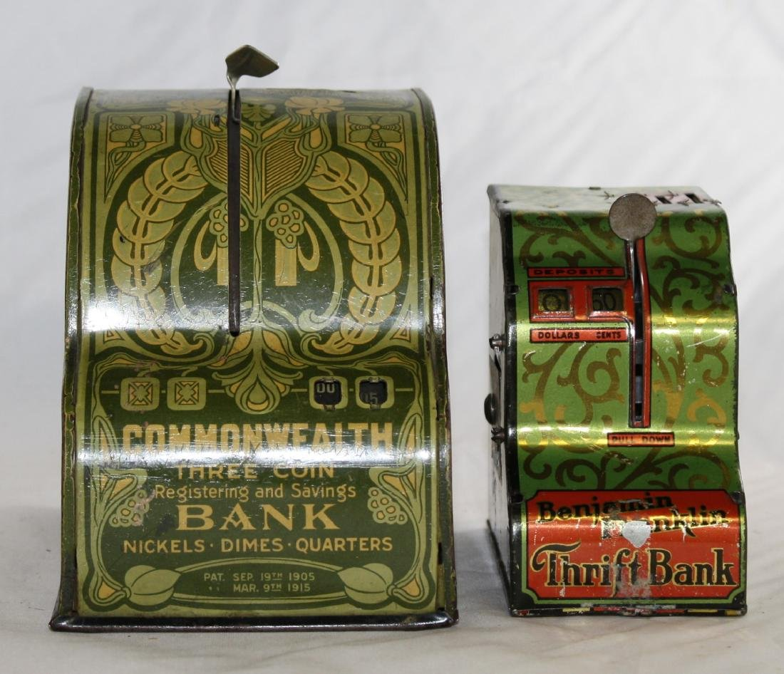 2 Cash Register Banks Including Benjamin Franklin