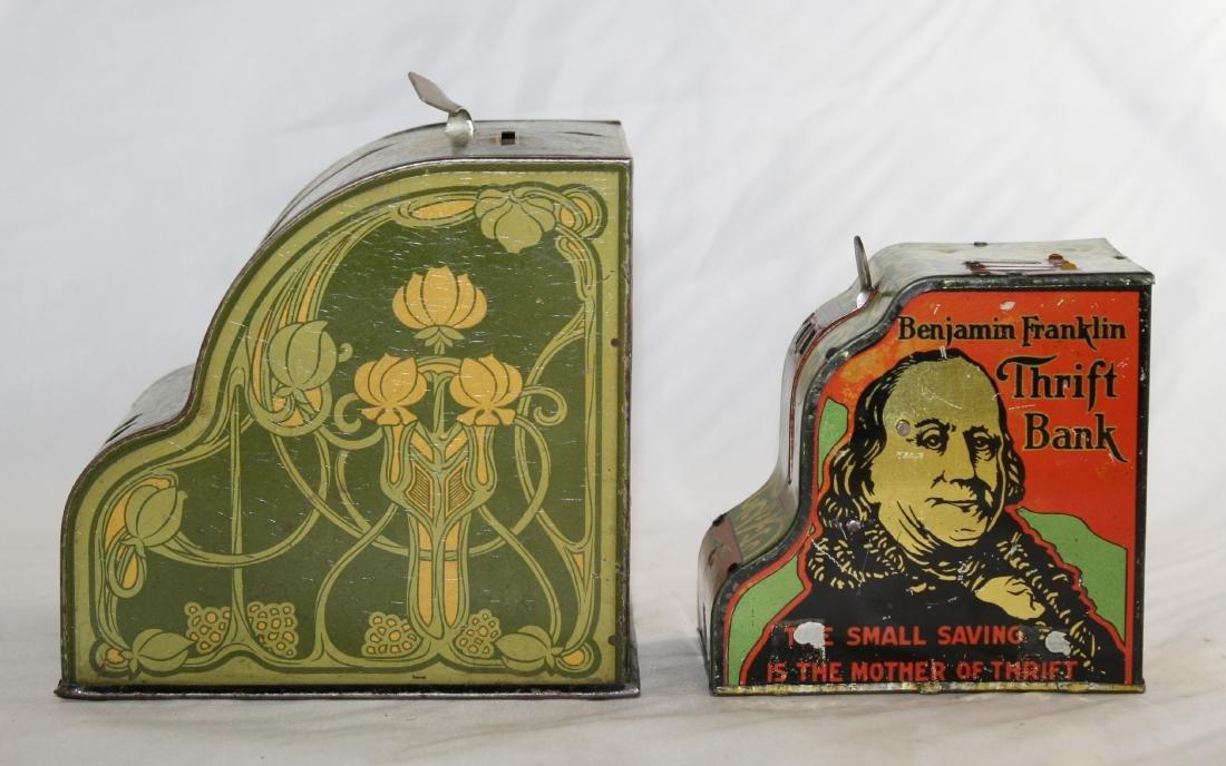 2 Cash Register Banks Including Benjamin Franklin - 4