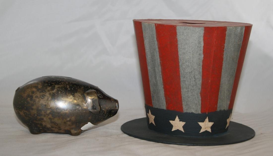 7 Still Banks Including Uncle Sam, Pig - 3