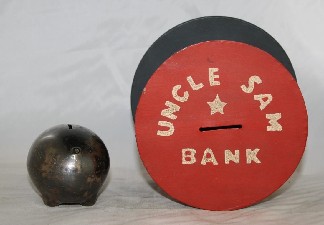 7 Still Banks Including Uncle Sam, Pig - 4