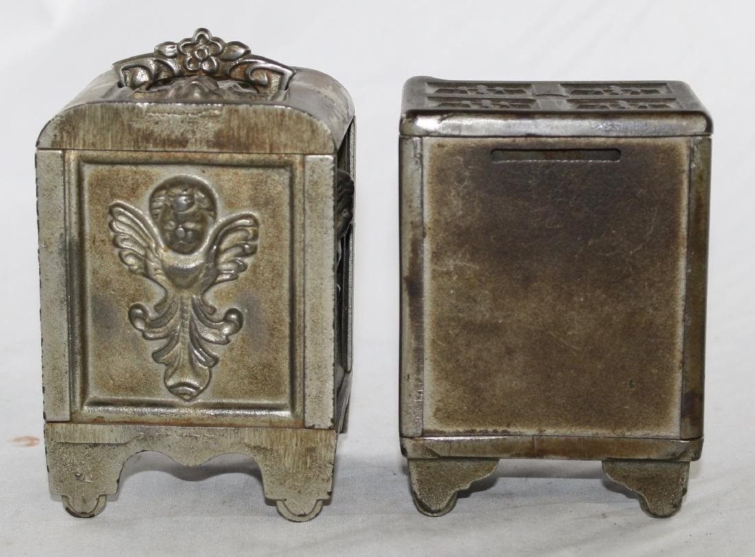Two Cast Iron Safe Banks - 3