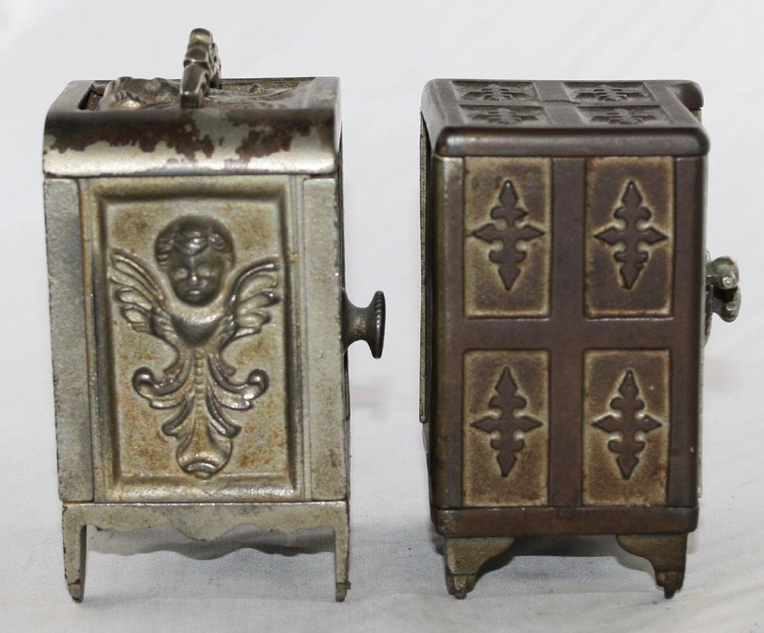 Two Cast Iron Safe Banks - 4