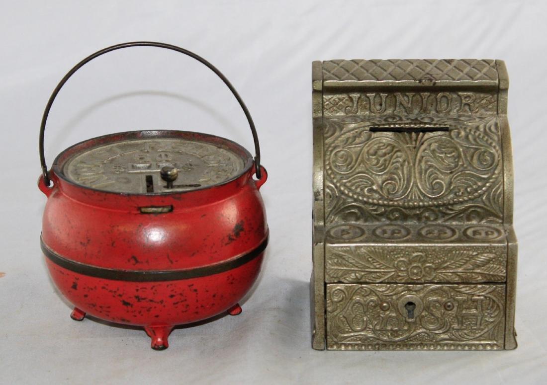 Bean Pot and Junior Cash Register Iron Banks