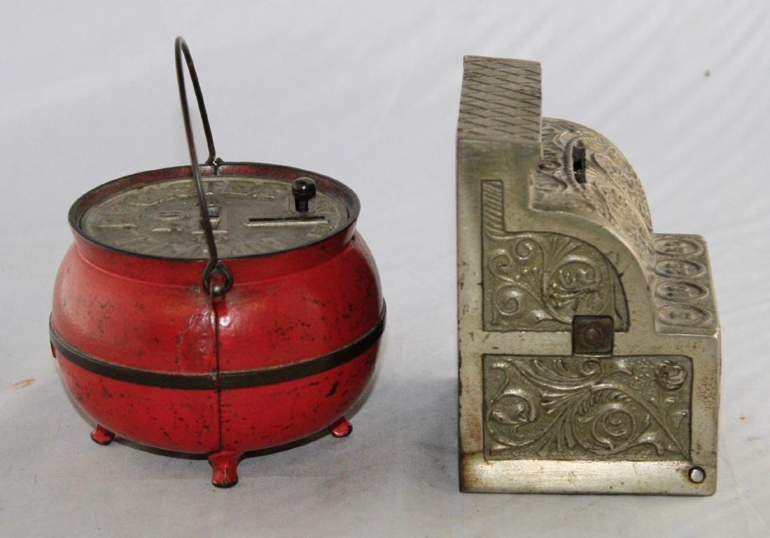 Bean Pot and Junior Cash Register Iron Banks - 2