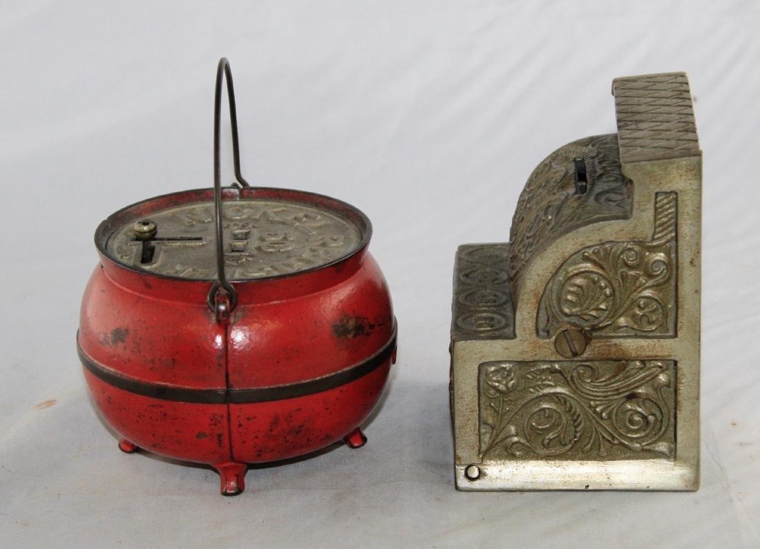 Bean Pot and Junior Cash Register Iron Banks - 4