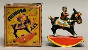 Windup Tin GAMA Clown on Donkey