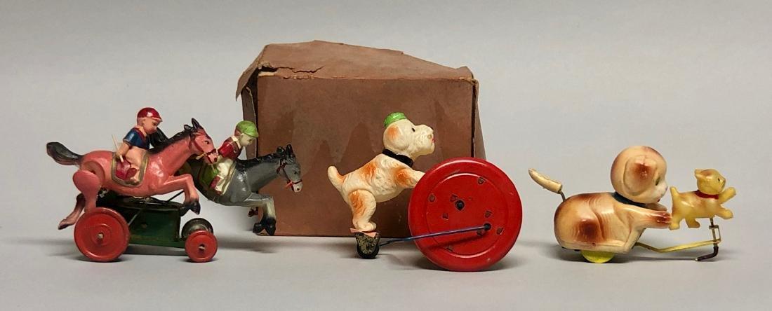 Three Windup Celluloid Toys