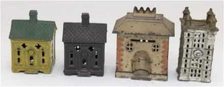 Four Cast Iron Building Banks