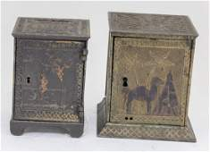 Arabian & Young America Cast Iron Safe Banks