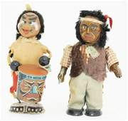 Two Windup Native American Toys