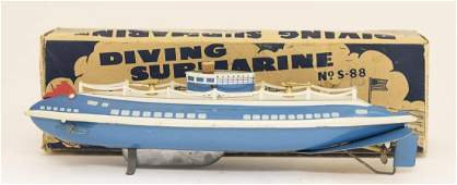 Wolverine Boxed  Windup No S88 Submarine Toy