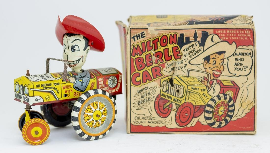 Boxed Marx Milton Berle Car Windup Toy