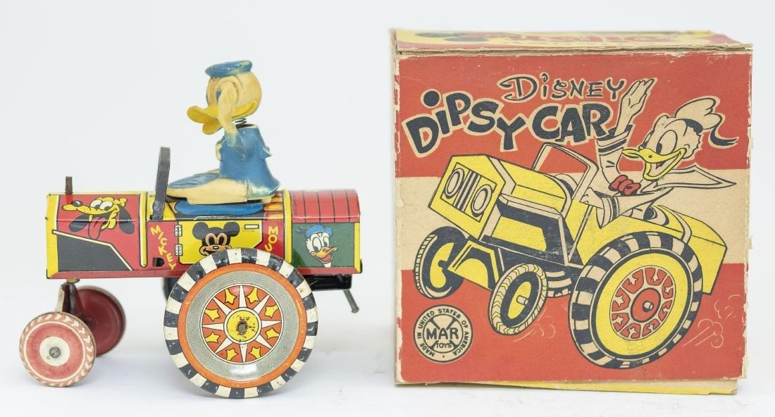 Boxed Marx Donald Duck Dipsy Car