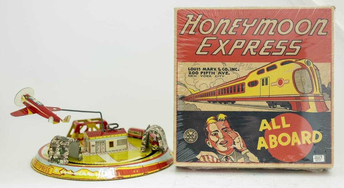 Boxed Marx Honeymoon Express Tin Windup Toy