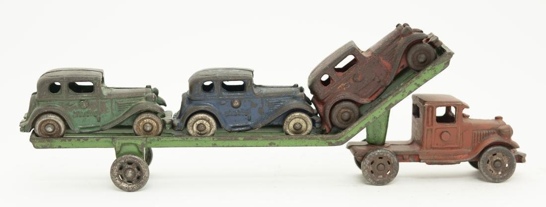 Arcade Cast Iron Car Carrier Toy