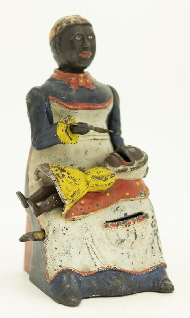 Mammy with Child Cast Iron Mechanical Bank
