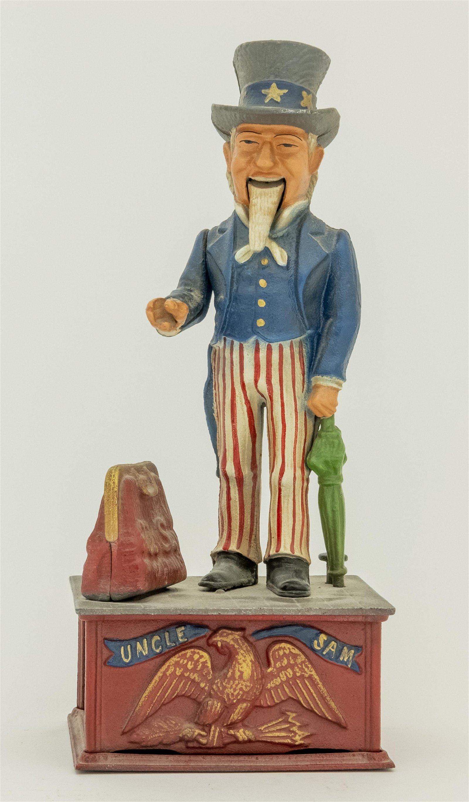 Rare Uncle Sam Iron Mechanical Bank