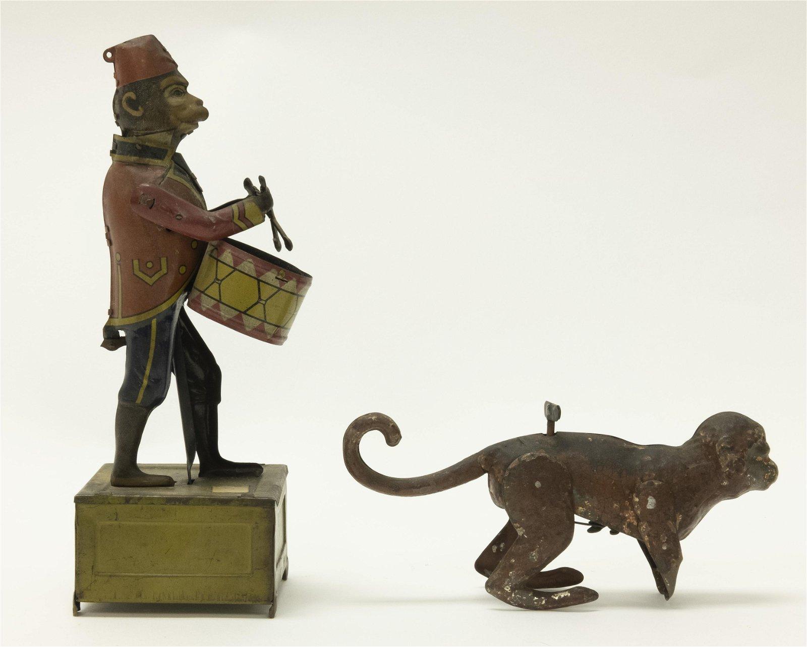 Windup Distler Monkey Drummer & Hopping Monkey